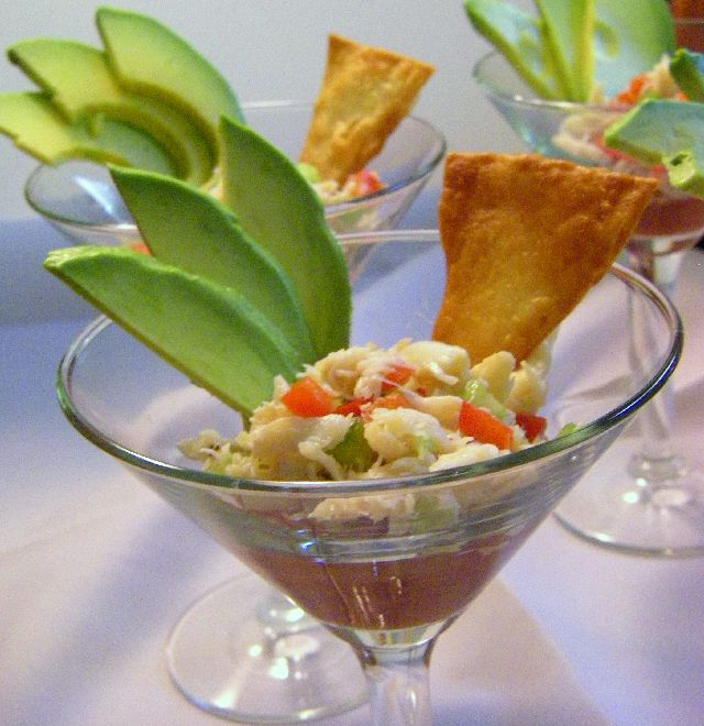 Crab Cocktail. An elegant and delicious hors d'oeuvres.
