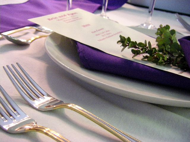 A beautiful place setting from one of our recent weddings